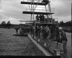 Då för 61 år sedan - var det kallt inför SM-finalen på 100m fritt.