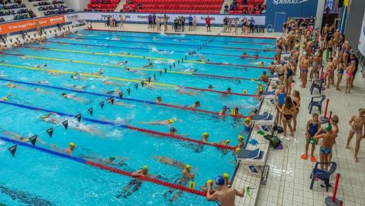 Kortbane-SM simmas i Helsingborg 2020.Foto: Peter Trägårdh Foto
