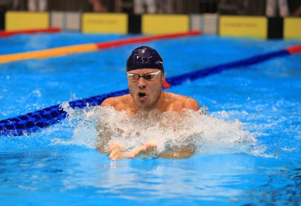 Jørgen Scheie Bråthen kvalifiserte seg til EM-kortbane i desember. Bilde med tillatelse av North Sea Swim Meet.