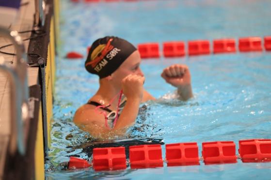 Malene Rypestøl viste i helgen at hun er i bra rute til EM-kortbane. Bilde med tillatelse av North Sea Swim Meet.