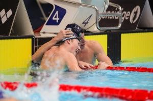 Både Henrik Christiansen og Erik Gidskehaug leverte gode prestasjoner i finalen på 800 fri. Foto: Ellen Kessel