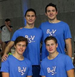 Bærumsvømmerne satte ny norsk seniorrekord på 4x50 medley. Foto: Ellen Kessel