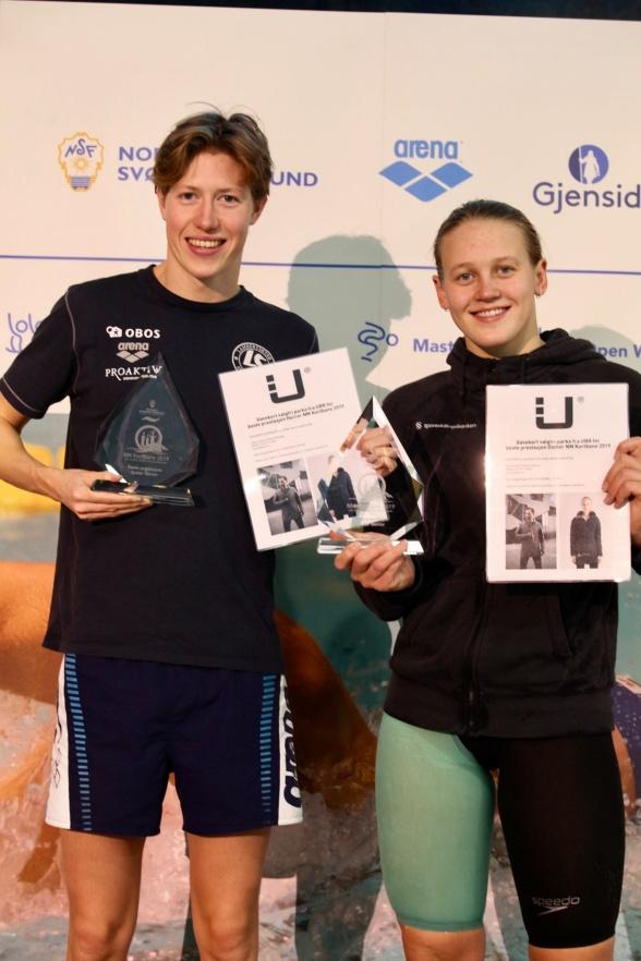 Henrik Christiansen hadde beste prestasjon for herrene, mens Malene Rypestøl hadde beste prestasjon for damene. Foto: Ellen Kessel/NSF
