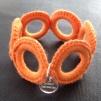Virkat armband (Orange)
