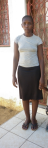 Aisha Okunja Said - Undergoing a tailoring course