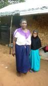 Grandmother o barnbarn Saida