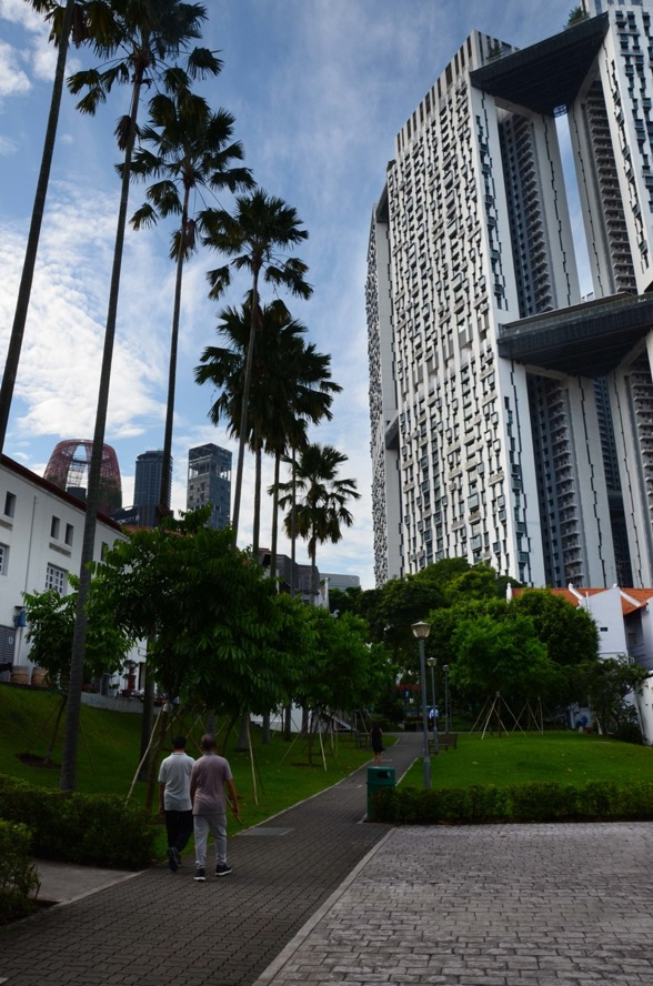 Singapore's largest public housing, Pinnacles, in the background