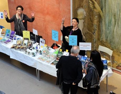 Birgitta och jag på Smålands litteraturmässa den 4 februari -17