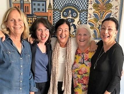 Superkreativt möte med Sverigeförfattarna Eva Jacobson, Helena Jospephson och Aliya Dahlgren den 16 sept-18.