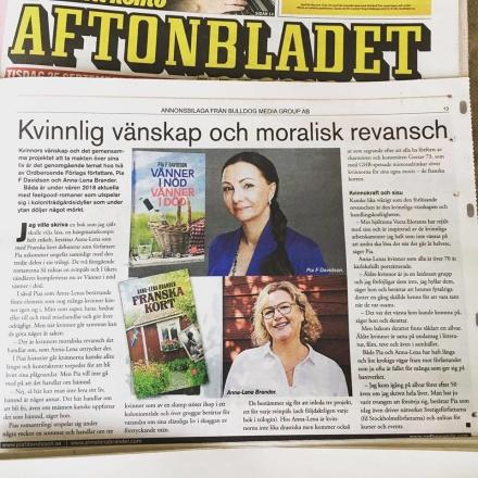 Anna-Lena Brander och jag inför bokmässan i Göteborg -18.