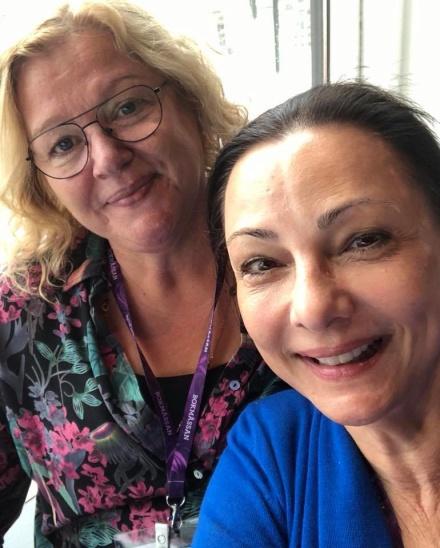Anna-Lena Brander och jag på bokmässan i Göteborg-18