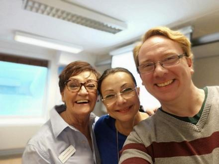 Selfie med Birgitta Andersson Backlund och Lennart Guldbrandsson på kursen Grundkursen där vi föreläste den 18/10-18.