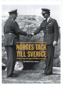 Boken Norges tack med omslagsbild där kung Olav V överlämnar minnesstenen till kung Carl XVI Gustaf 1983.