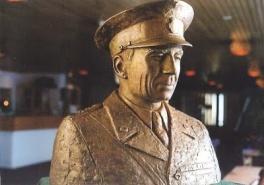 Bysten av greve Folke Bernadotte, skulpterad av den norska konstnären Solveyg W. Schafferer-Sigerus
