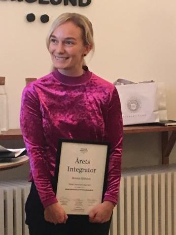 Fondens deltagare, Bonnie Sjöblom, f d Business Sweden (nu Accenture) utsågs till den som bidragit mest för att utveckla samarbetsandan i  2017-års program.