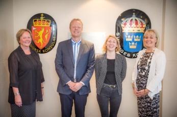 Sverige och Norge samverkar internationellt, exempelvis mellan ländernas konsulat som här i Kapstaden.