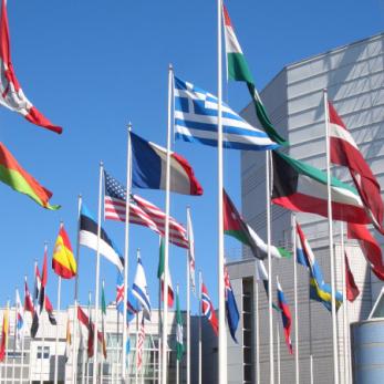 I ländernas utbildningsprogram förekommer också besök på olika internationella organisationer.