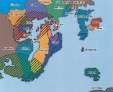 Två viktiga regioner i Nordeuropa är Östersjön och Barents/Arktis. Sveriges och Norges geografiska läge och historia kompletterar länderna. Klcka på bilden för att göra den större.