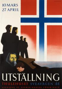Föreningen var initiativtagare till Den norska utställningen i Thulehuset i Stockholm. Den visades under våren 1943 och blev en stark markering för ett mer aktivt officiellt stöd för Norges sak. Vid öppnandet av utställningen deltog bland annat prinsessan Ingeborg, prins Eugen, utrikesminister Christian Günther, den norske ministern Jens Bull, och diplomater från de allierade länderna.