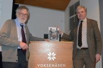 Författarna Anders Johansson till vänster och Mats Wallenius. Bild Poul Heisholt, mars 2017.