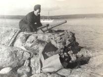 Bild från utbildningen på Mauritzbergs slott sommaren 1944. Foto Erlend Gröstad.