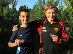 Stefan och Jesper med sina silver