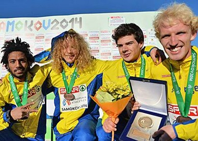 Bronslaget: Nappe, John, Alexander och Elmar Foto:Deca Bild