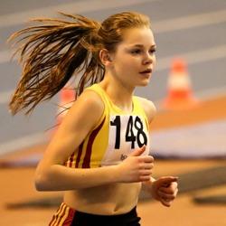 Starkt löpande Cornelia Böhnke