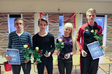 Markus, Timmy, Charlotte och Douglas belönade
