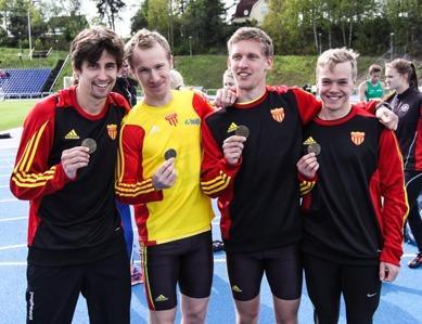 Johan - Thobias - Staffan - Alexander - nöjda medaljörer