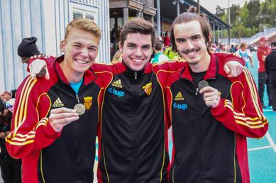 Ludvig - Dennis - Anton - nöjda medaljörer