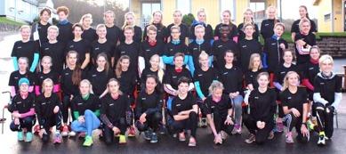 Årets ungdomsgäng på Bannister Running Camp (Bild från Bannister FB-sida)