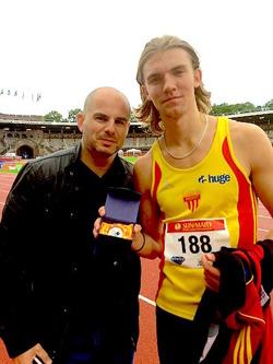 Kihlis med coach Fotte. Foto Susanne Kihlblom