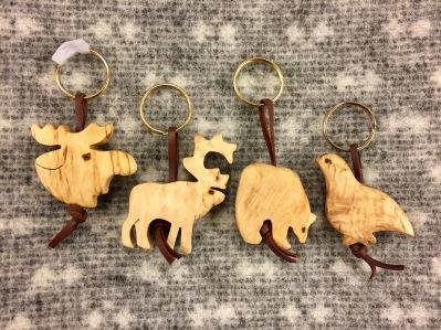 Nyckelring trä