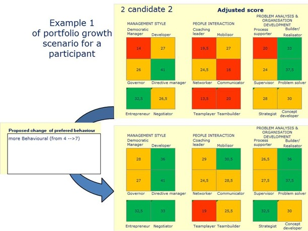 Example scenario for growth Leadership Style Portfolio
