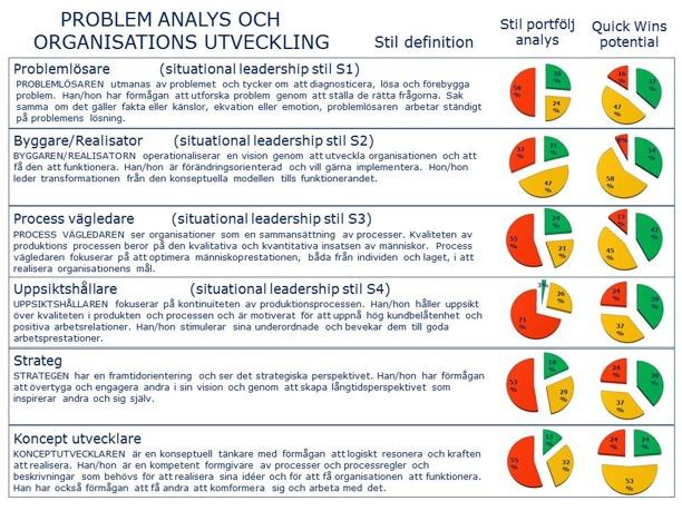 Stillportfölj analys och Quick-Wins potential: Problemanalys och Organisations utveckling