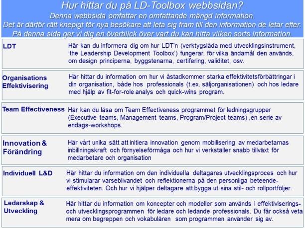 Hur hittar man på LD-Toolbox webbsidan ?