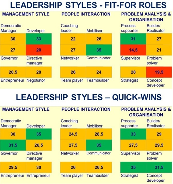 A candidate's Fit-for-Role and Quick-Wins report