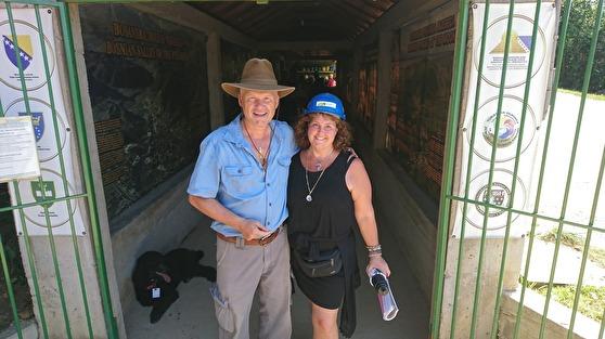 Dr Dr Sam Semir & Ann Ahlgren Änglavingar Ravne tunnels in Visoko, Bosnia