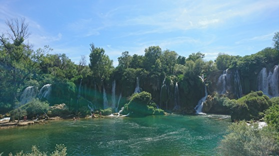 waterfall in Kravica, Bosnia