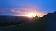 solnedgång Glastonbury