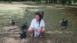 Ann Ahlgren with the Blue Monkey, Kenya. Pure love!