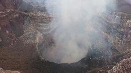 Änglavingar aktiverade helande energier vid vulkanen Masaya i Nicaragua augusti 2017