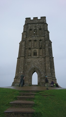 Glastonbury Tor and the gate.