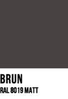 Brun, RAL 8019 MATT