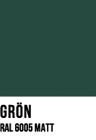 Grön, RAL 6005MATT