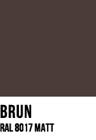 Brun, RAL 8017 MATT