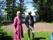 Anita Häggström med maken Kurt vid deras sommarställe i Vålberga. Dom var värdfolk för vårt sista styrelsemöte för våren 2013
