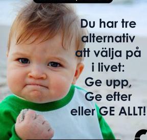 Ge inte upp!