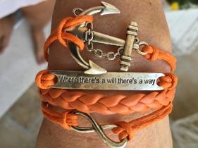 Nytt armband med ett av mina favoritordspråk på - Where there's a will there's a way :)